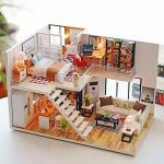 DIY doll house by using a shoebox
