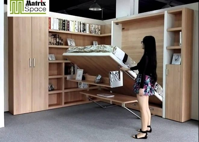 DIY Murphy bed is a good idea for small apartments