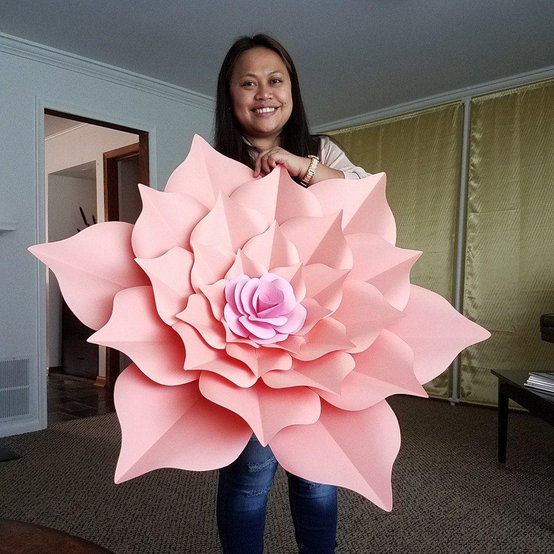 Making of DIY Paper Flowers Wedding Bouquet