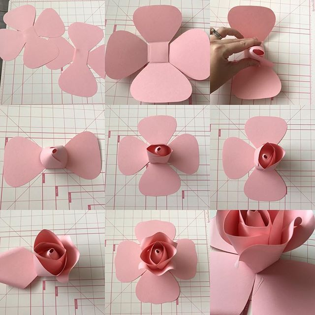 Making of DIY Paper Flowers Wedding Bouquet